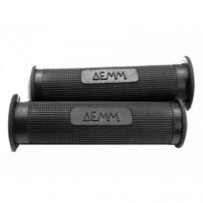 Demm grey-red-black rubber handle grip