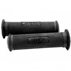 Laverda 75/100 cc grey-black rubber handle grip