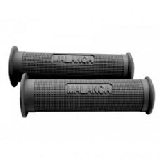 Malanca grey-black-red rubber handle grip