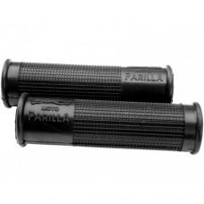 Parilla black-red-grey rubber handle grip